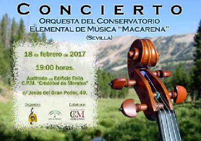 Concierto: Orquesta del Conservatorio Macarena en el Cristóbal de Morales Sevilla