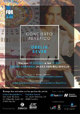 Concierto benéfico de Odelia Sever en Capitanía Sevilla 2018