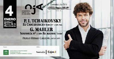 Cartel del concierto de la Orquesta OJA y Barenboim-Said en el Maestranza de Sevilla 2020