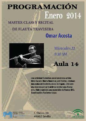 Concierto: Omar Acosta en el CSM Manuel Castillo de Sevilla