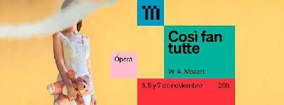 Cartel de la ópera Così fan tutte en el Teatro de la Maestranza de Sevilla