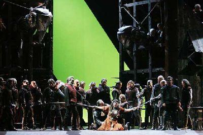 Foto promocional de la ópera Il trovatore