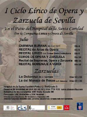 Ciclo de ópera y zarzuela en el Hospital de la Caridad de Sevilla