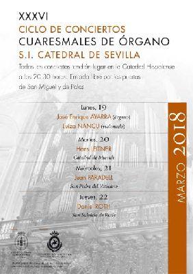 Conciertos de Órgano Ciclo Cuaresmal 2018 Catedral de Sevilla