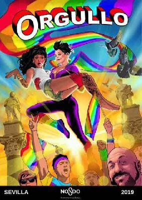 Cartel del orgullo gay (LGTBI) en Sevilla 2019 de Diego Galindo