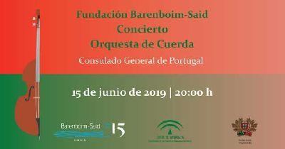 Cartel del concierto de la Orquesta de cuerda de la Fundación Barenboim-Said en Sevilla 2019