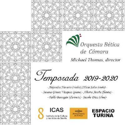 Cartel de la temporada 2019-2020 de la Orquesta Bética de Cámara