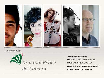 Cartel de la temporada 2019 de la Orquesta Bética de Cámara