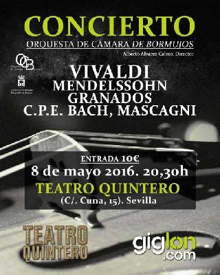 Concierto: Orquesta de Cámara de Bormujos en el Teatro Quintero Sevilla