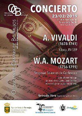 Cartel del concierto de la Orquesta de Cámara de Bormujos en San Jacinto de Sevilla 2019