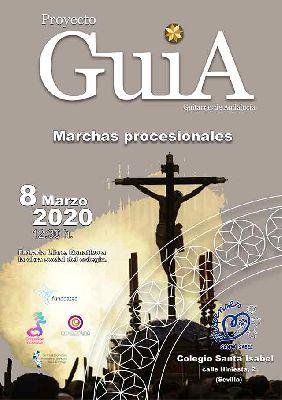 Cartel del concierto de marchas de Semana Santa por Orquesta Guía en Sevilla 2020