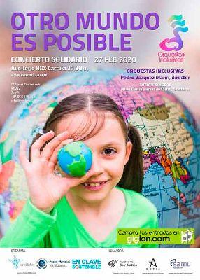 Cartel de Otro mundo es posible en Box Cartuja Sevilla 2020