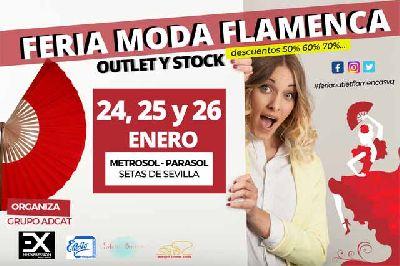 Cartel de la I Feria Outlet de Moda Flamenca en Las Setas de Sevilla 2020