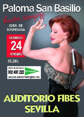 Concierto: Hasta siempre de Paloma San Basilio en Fibes Sevilla
