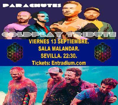 Cartel del concierto de Parachutes en Malandar Sevilla 2019