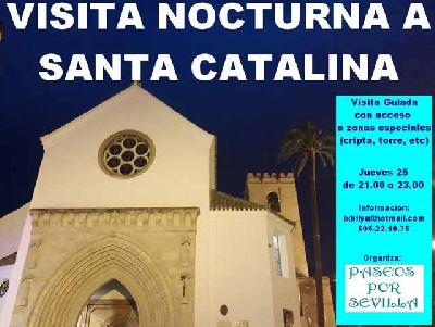 Cartel de la visita a la iglesia de Santa Catalina de Paseos por Sevilla 2019
