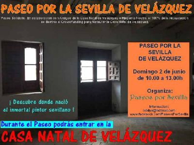 Cartel de la ruta Paseo por la Sevilla de Velázquez por Paseos por Sevilla 2019