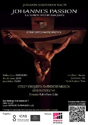 Concierto: La Pasión según San Juan de Bach en el Espacio Turina de Sevilla