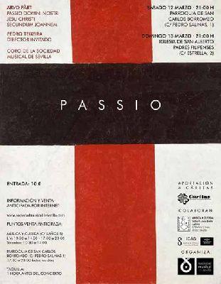 Concierto: Passio de Arvo Pärt en Sevilla