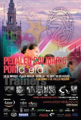 Pedaleo solidario contra el ELA en Sevilla