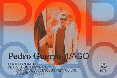 Cartel del concierto de Pedro Guerra en Pop CAAC Sevilla 2019