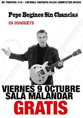 Concierto: Pepe Begines sin Chanclas en Malandar Sevilla