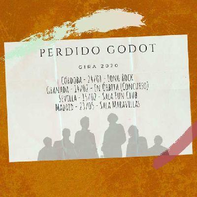 Cartel de la gira 2020 del grupo Perdido Godot