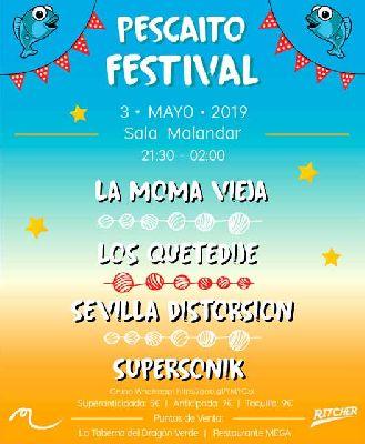 Cartel del concierto de Pescaito Festival en Malandar Sevilla 2019