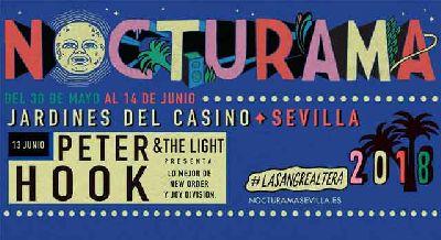 Concierto: Peter Hook & The Light en Nocturama 2018 Sevilla