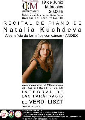 Recital de piano a beneficio de Andex en el Cristóbal de Morales