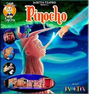 Cartel de Pinocho de Jabetín Teatro