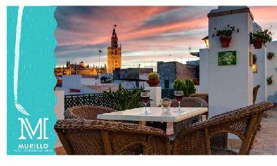 Pintar la Giralda desde el Hotel Murillo de Sevilla