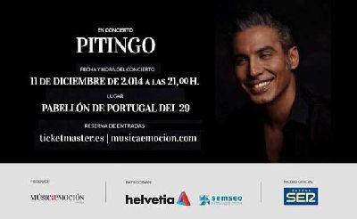 Concierto: Pitingo en el Pabellón de Portugal de Sevilla