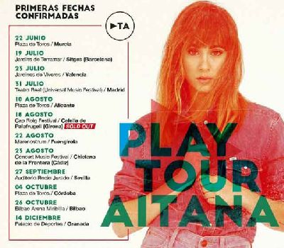 Cartel de la gira Play Tour Aitana