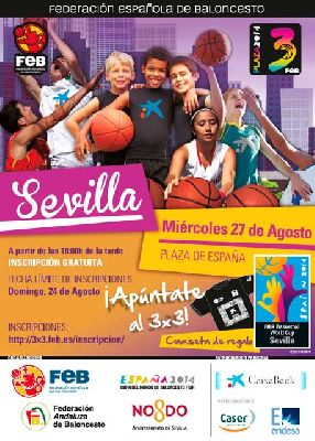 Baloncesto 3x3 Plaza 2014 en la Plaza de España de Sevilla