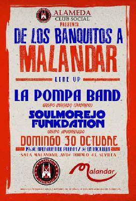 Concierto: La Pompa Band y Soulmorejo Funkdation en Malandar Sevilla
