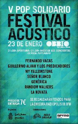 Concierto: V Pop Solidario en sala Obbio de Sevilla