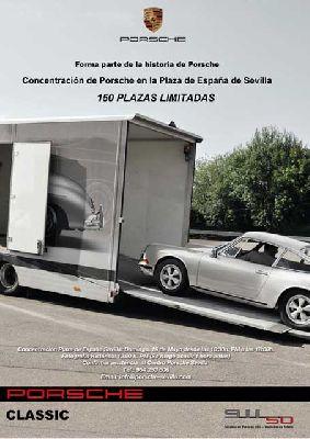 Concentración 50 aniversario del Porsche 911 en Sevilla