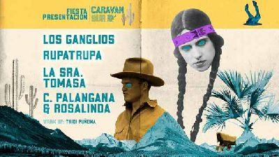 Cartel de la presentación del Festival Caravan Sur 2019 en el CAAC de Sevilla