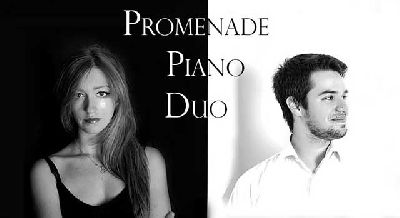 Foto promocional del dúo de piano Promenade