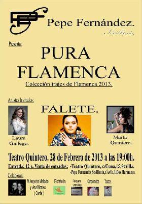 Presentación de Pura Flamenca con actuaciones musicales