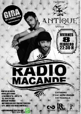 Concierto: Radio Macandé en Antique Sevilla