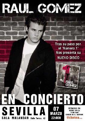 Concierto: Raúl Gómez en la sala Malandar de Sevilla