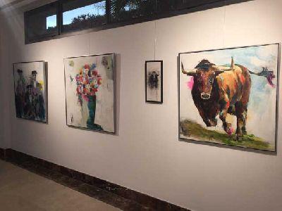 Imagen de la exposición de los Raúl Montes y Javier Montes Howden Art