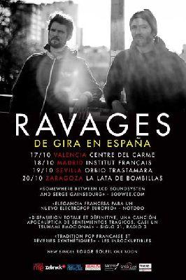 Concierto: Ravages en la sala Obbio de Sevilla 2018