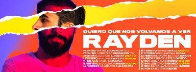 Cartel de la gira Quiero que nos volvamos a ver 2020 de Rayden