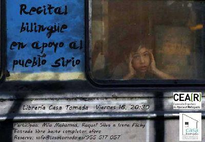 Recital bilingüe en apoyo al pueblo de Siria en la Casa Tomada Sevilla