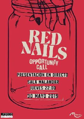 Cartel del concierto de Red Nails en Malandar Sevilla 2019