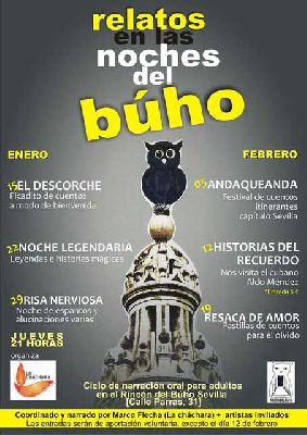 Ciclo de narración oral para adultos en el Rincón del Búho de Sevilla