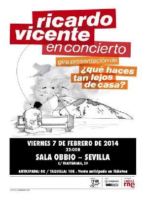 Concierto: Ricardo Vicente en la Sala Obbio Sevilla